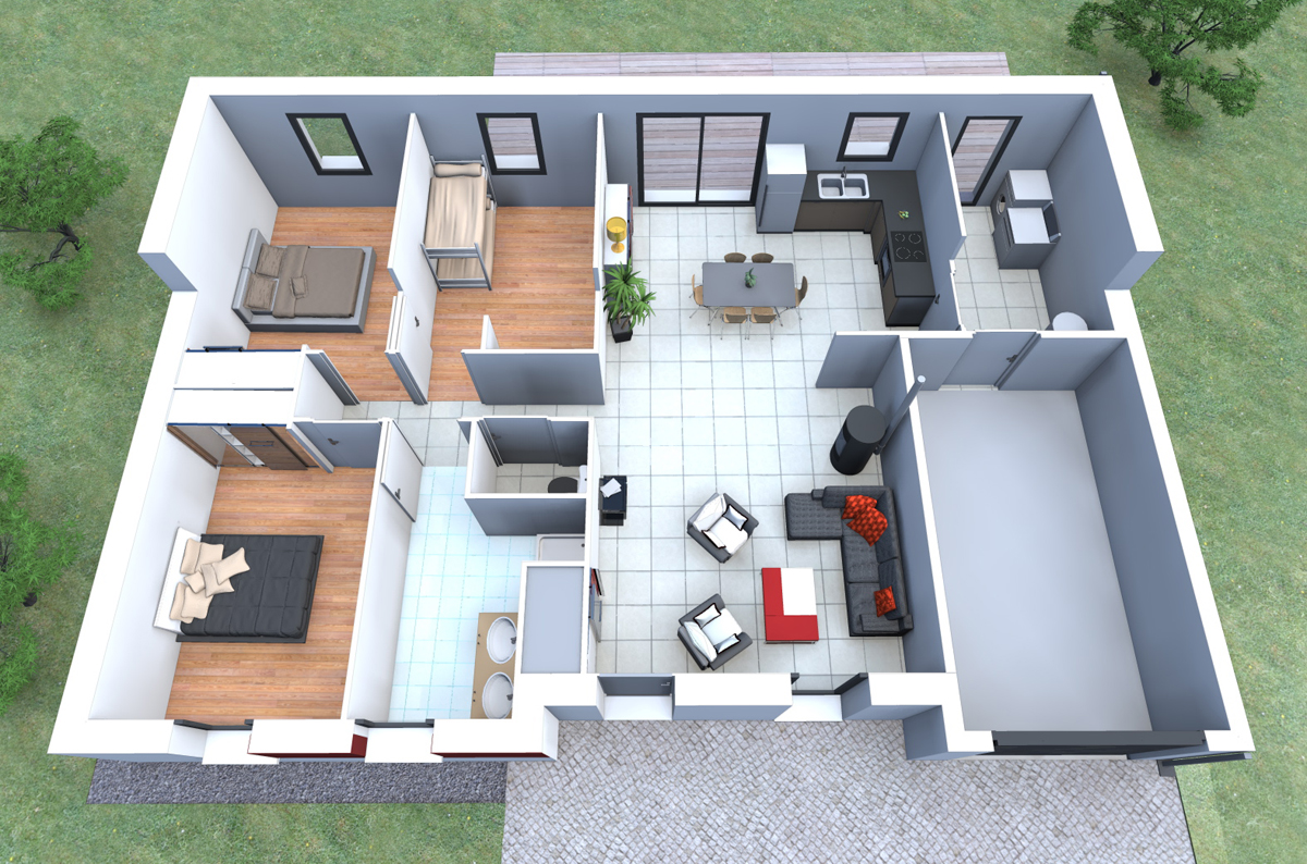 maison moderne 83