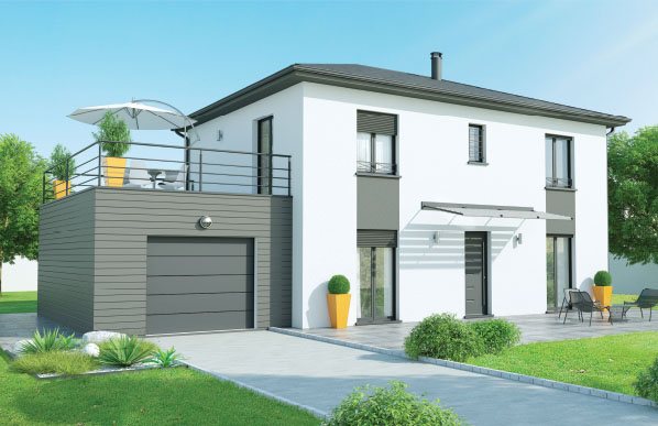 maison moderne a etage