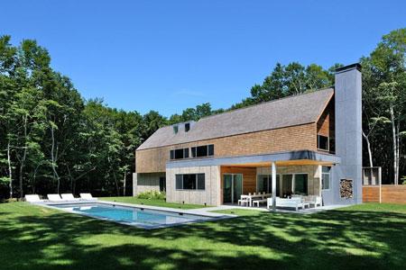 maison moderne a la campagne