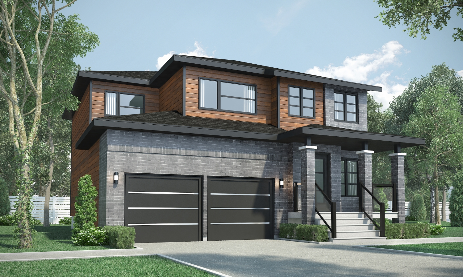 Maison moderne a vendre laval for Location garage laval