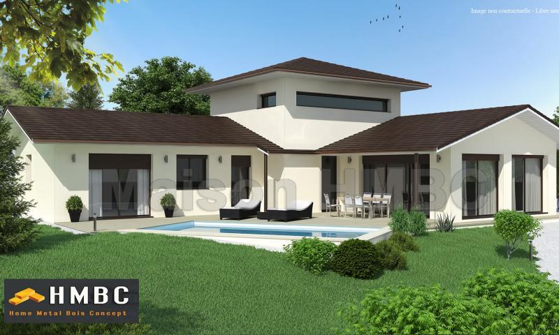 maison moderne avec etage. Black Bedroom Furniture Sets. Home Design Ideas