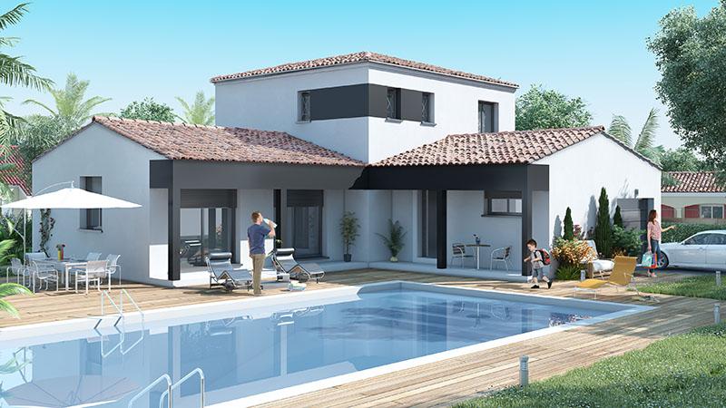 Maison moderne avec etage for Modele de maison contemporaine architecte