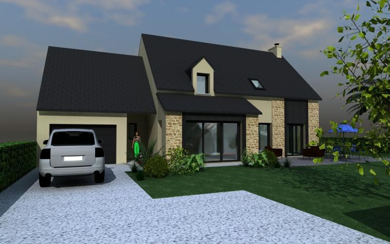 maison moderne avec garage