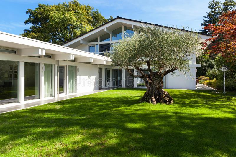 Maison moderne avec jardin for Casa moderna jardines
