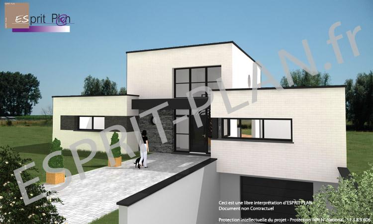 Maison moderne avec sous sol Sol maison moderne