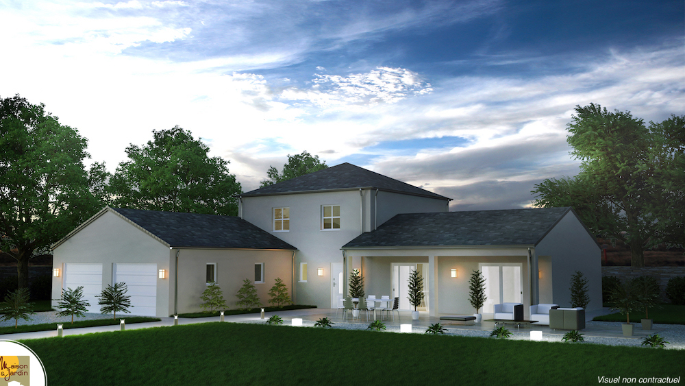 maison moderne avec tour