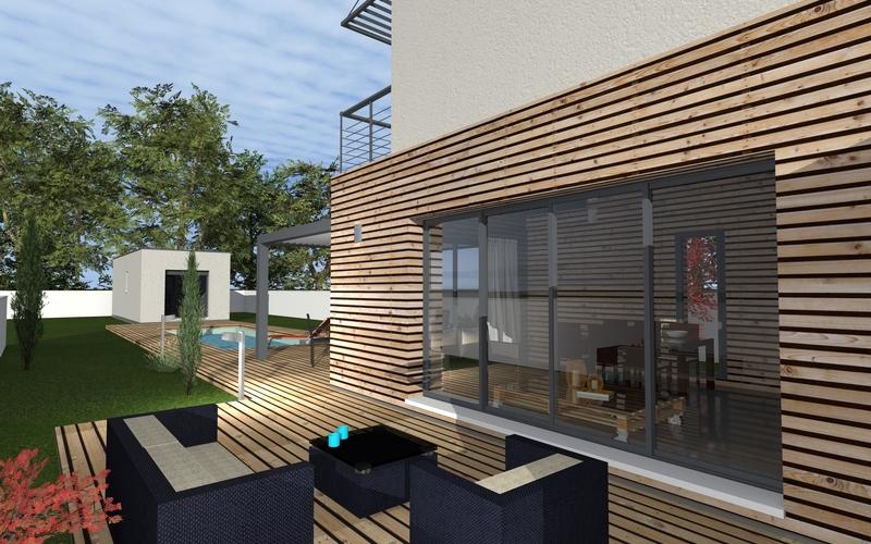 maison moderne bardage bois