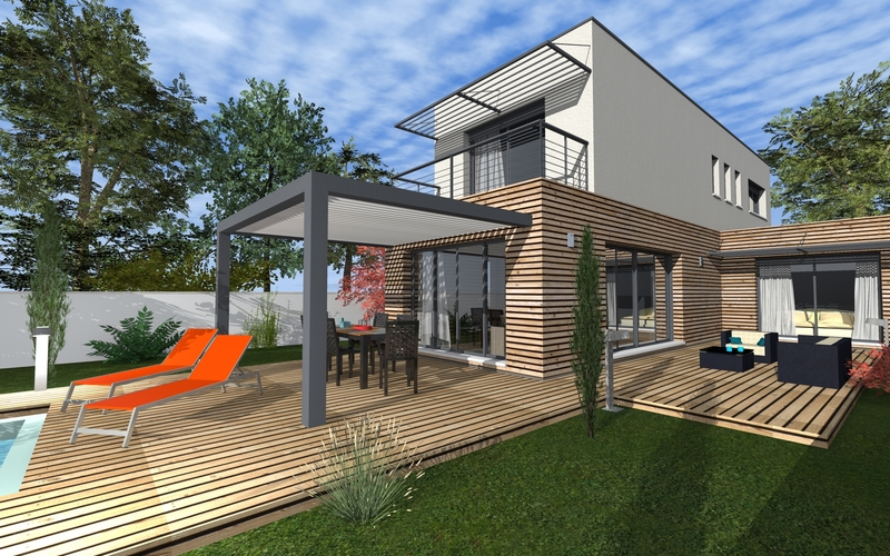 HD wallpapers maison moderne bois 532wall.ga