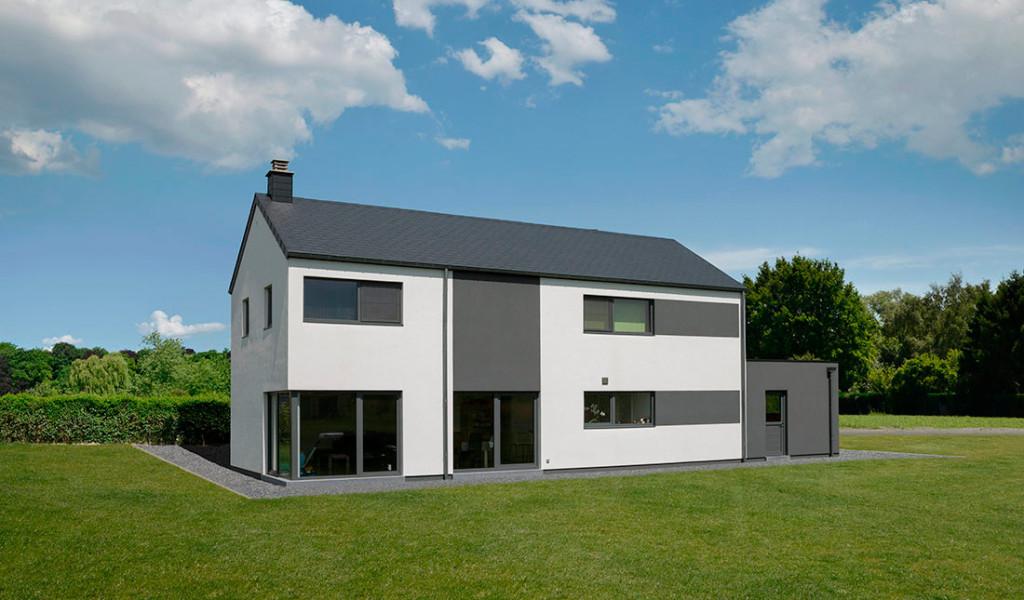 Maison moderne belgique for Plans de maison constructeurs