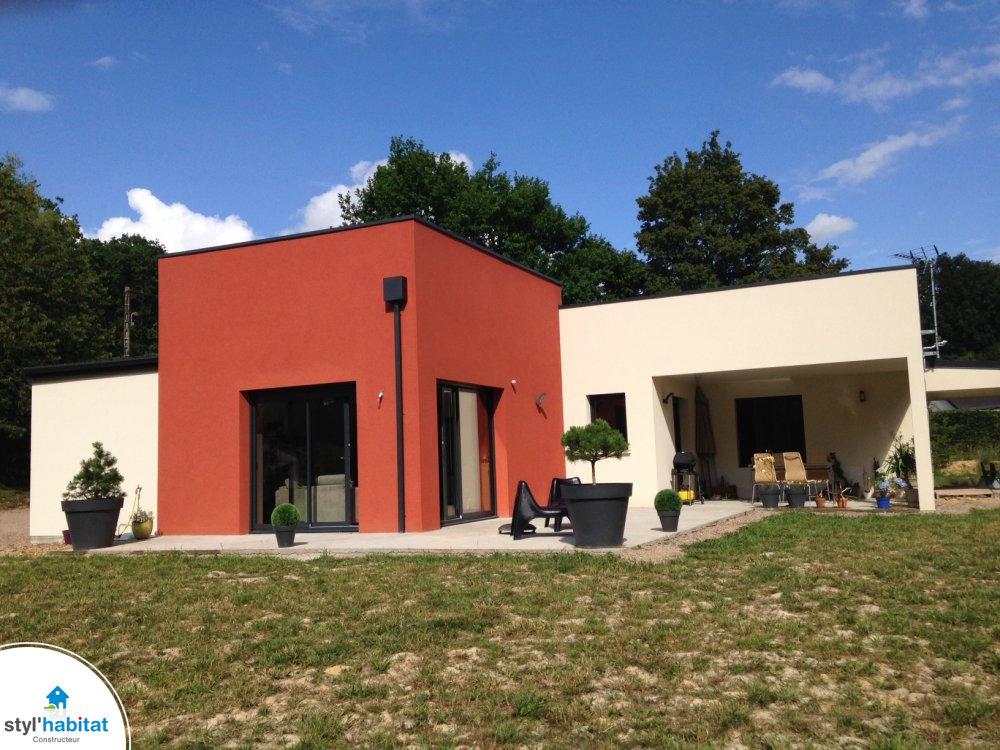 Maison moderne bi couleur - Couleur maison moderne ...