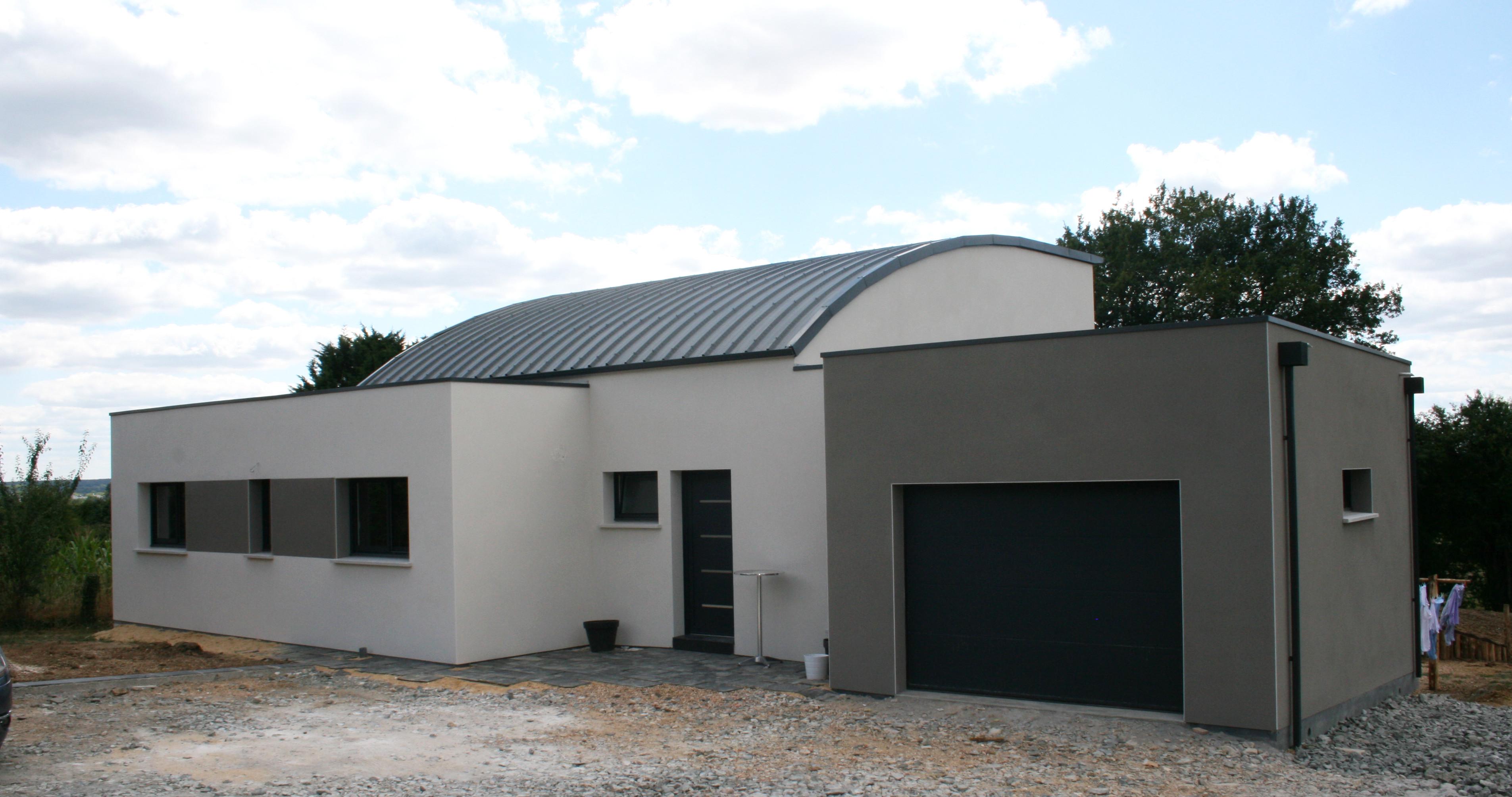 Maison moderne blanche et grise - Maison facade blanche ...