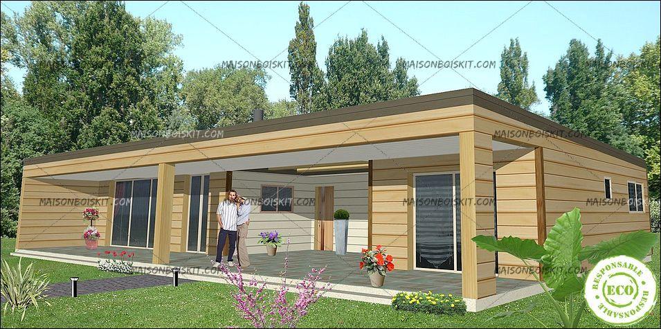 maison moderne bois kit