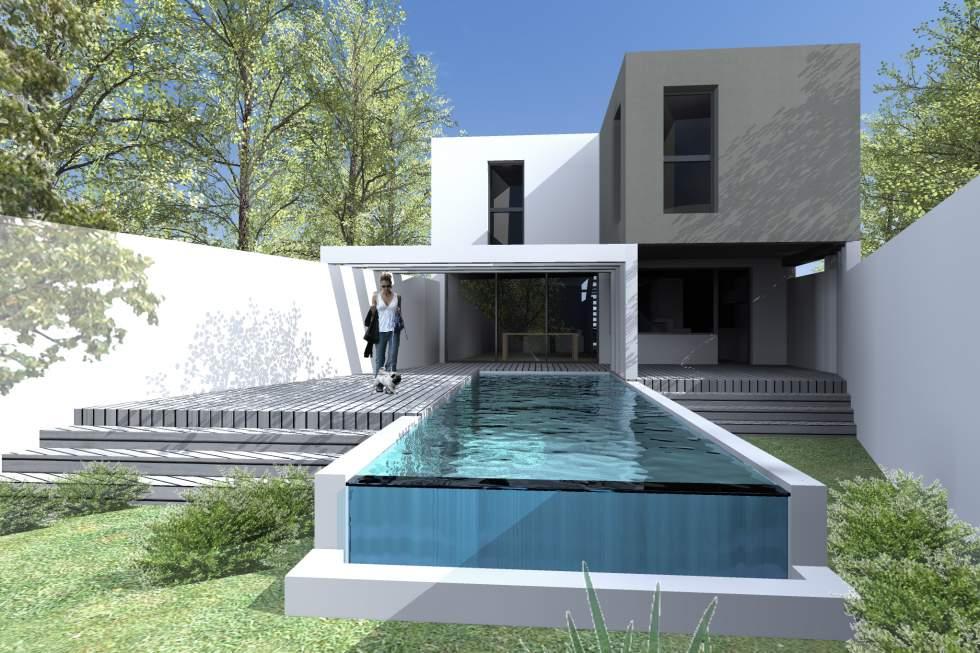 maison moderne bordeaux. Black Bedroom Furniture Sets. Home Design Ideas