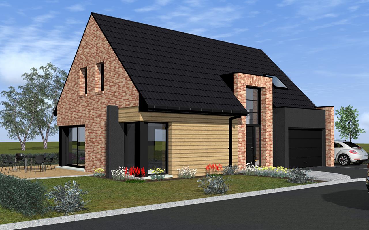 Maison en brique moderne