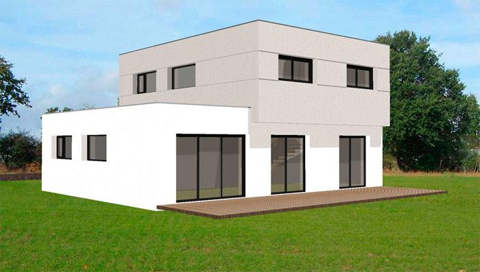 maison moderne carre