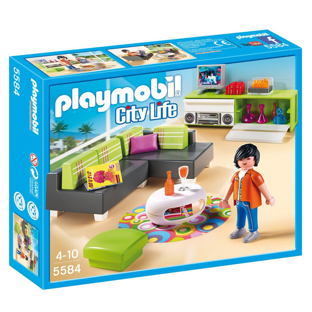 maison moderne city life playmobil. Black Bedroom Furniture Sets. Home Design Ideas