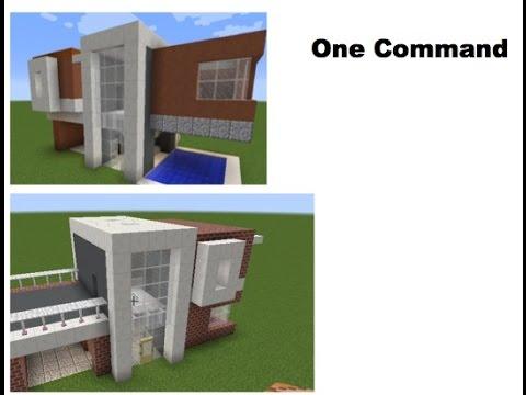 maison moderne command block