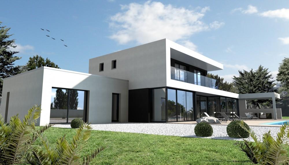 maison moderne construction