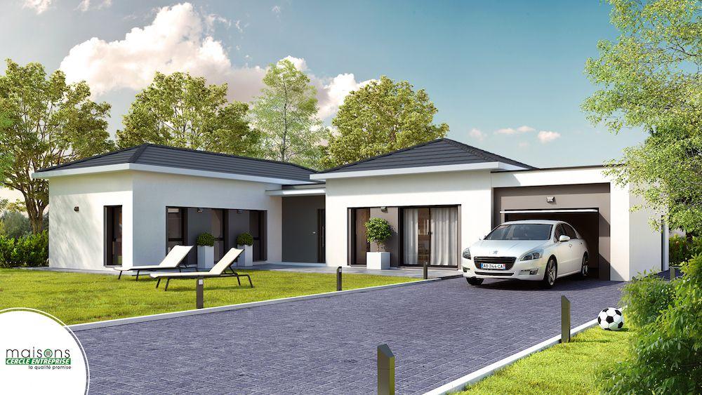 maison moderne de plain pied