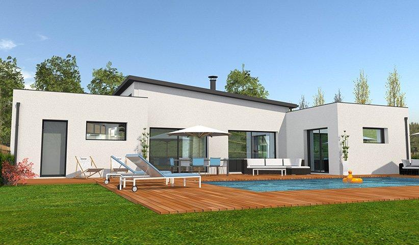 Maison moderne de plain pied for Maison moderne 31