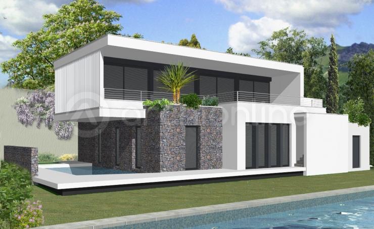Maison moderne definition - Dessin maison contemporaine ...