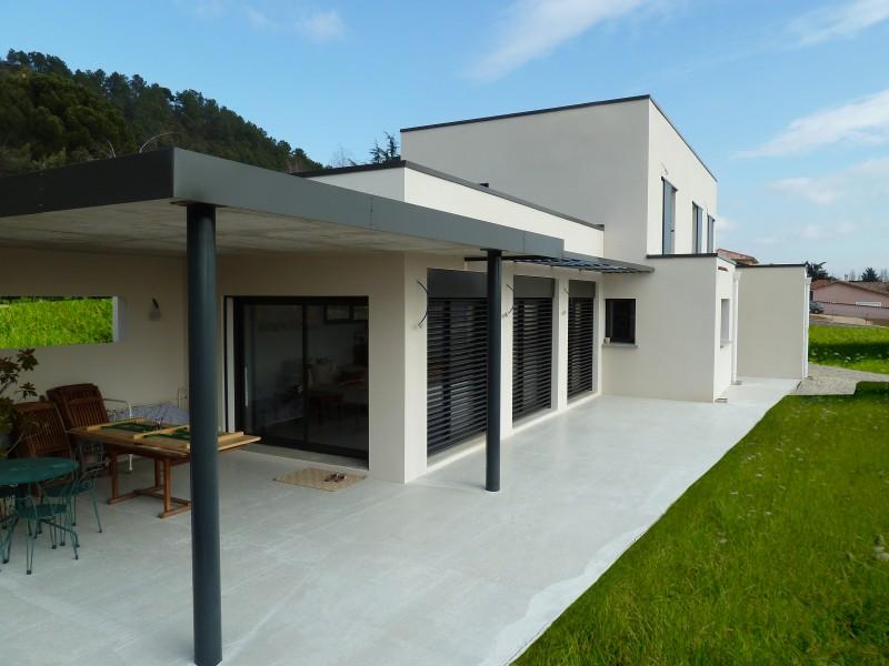 Maison 4 chambres plain pied moderne drome - maisons à Drôme ...