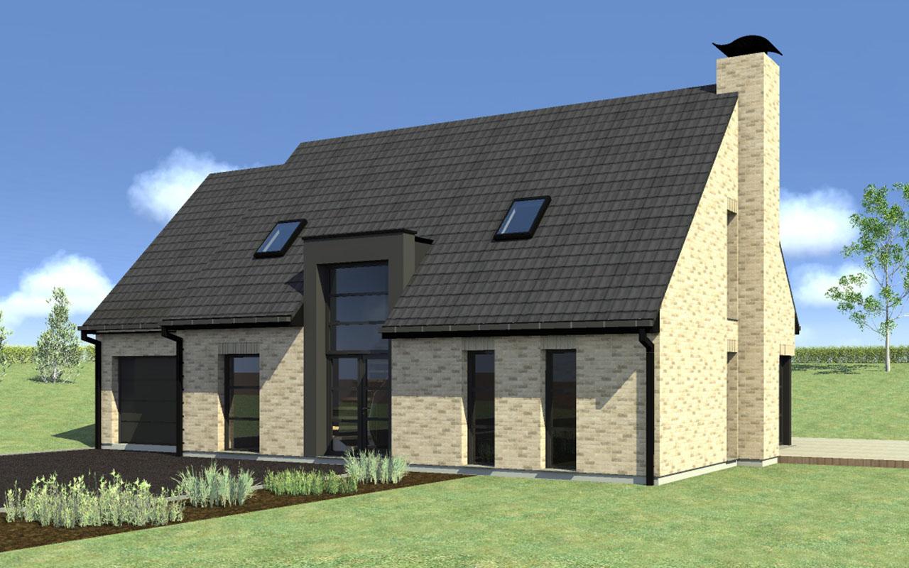 maison moderne en brique