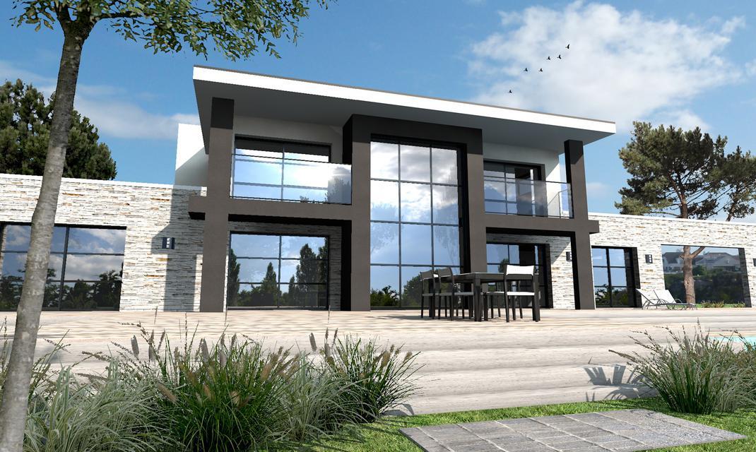 maison moderne en l
