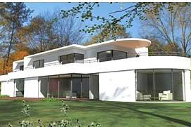 maison moderne en longueur