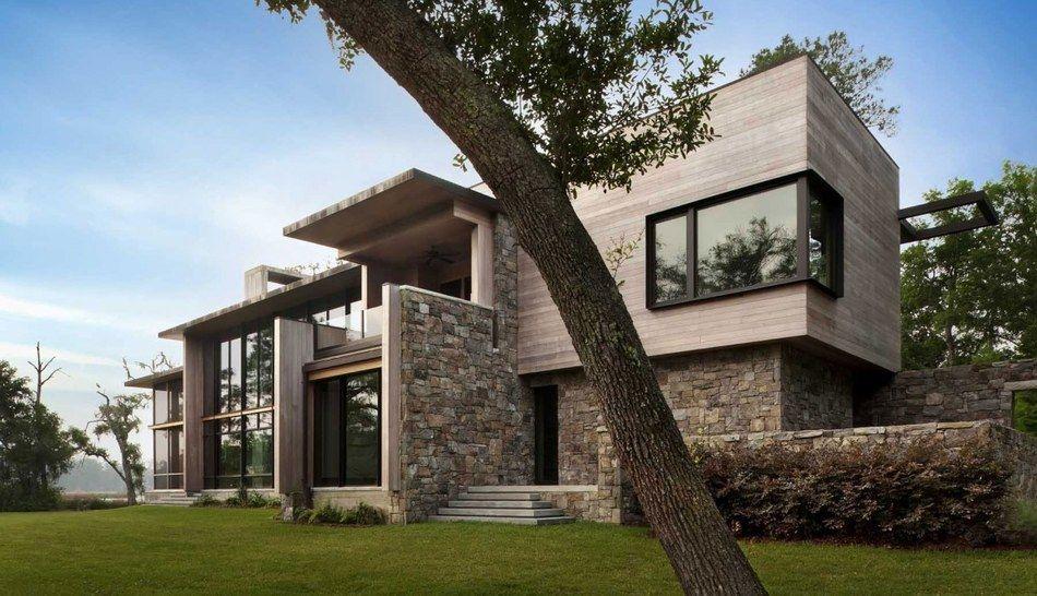 maison moderne en pierre