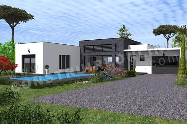 maison moderne en u