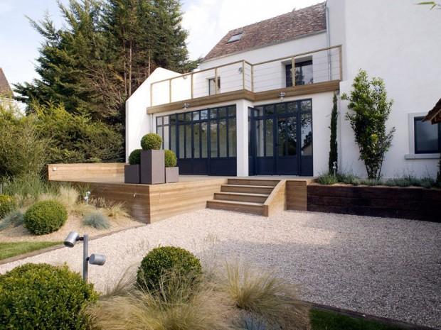 maison moderne et ancien