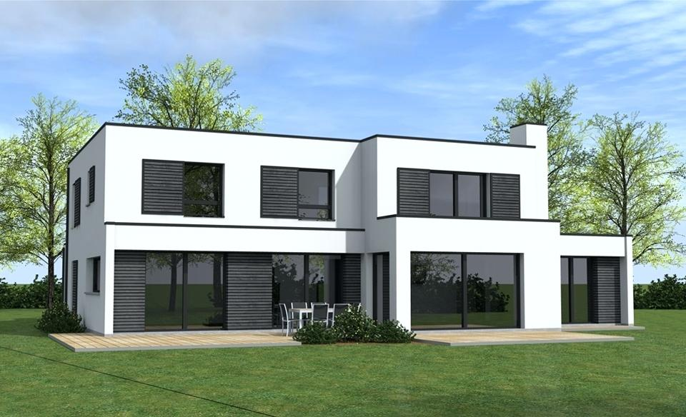 maison moderne facade grise
