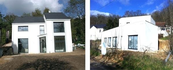 maison moderne fenetre blanche