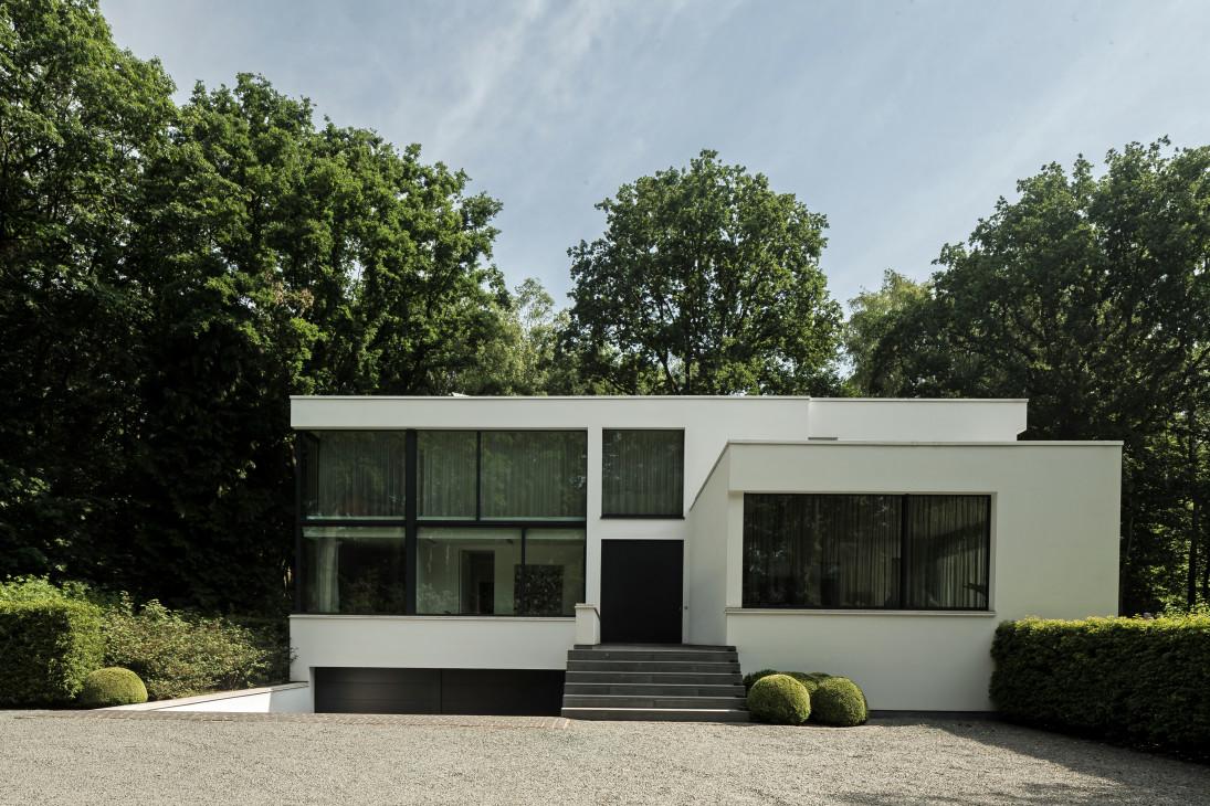 maison moderne garage sous sol