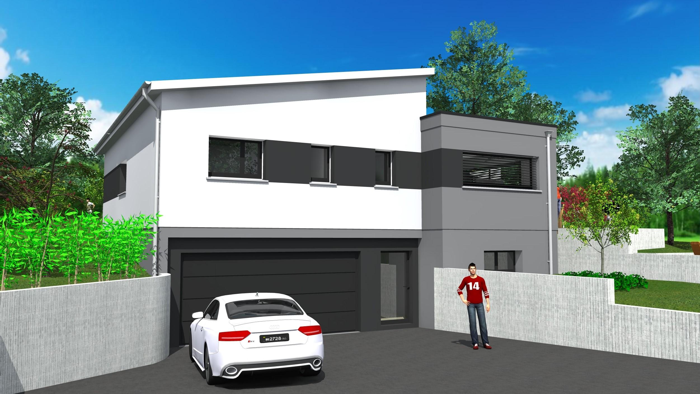 maison moderne garage sous sol. Black Bedroom Furniture Sets. Home Design Ideas