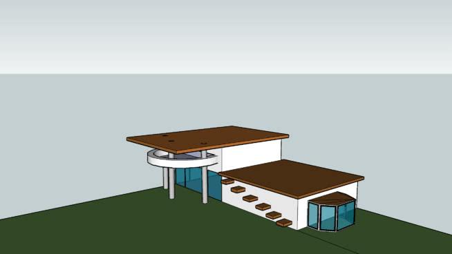 maison moderne google sketchup. Black Bedroom Furniture Sets. Home Design Ideas