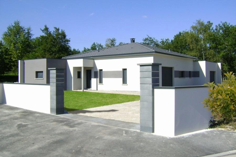 NOUVOMEUBLE Bahut 180 cm Moderne Blanc Effet béton Gris Urban 6 ...