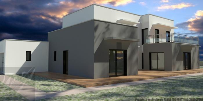 Maison Moderne Blanche Et Grise - onestopcolorado.com -