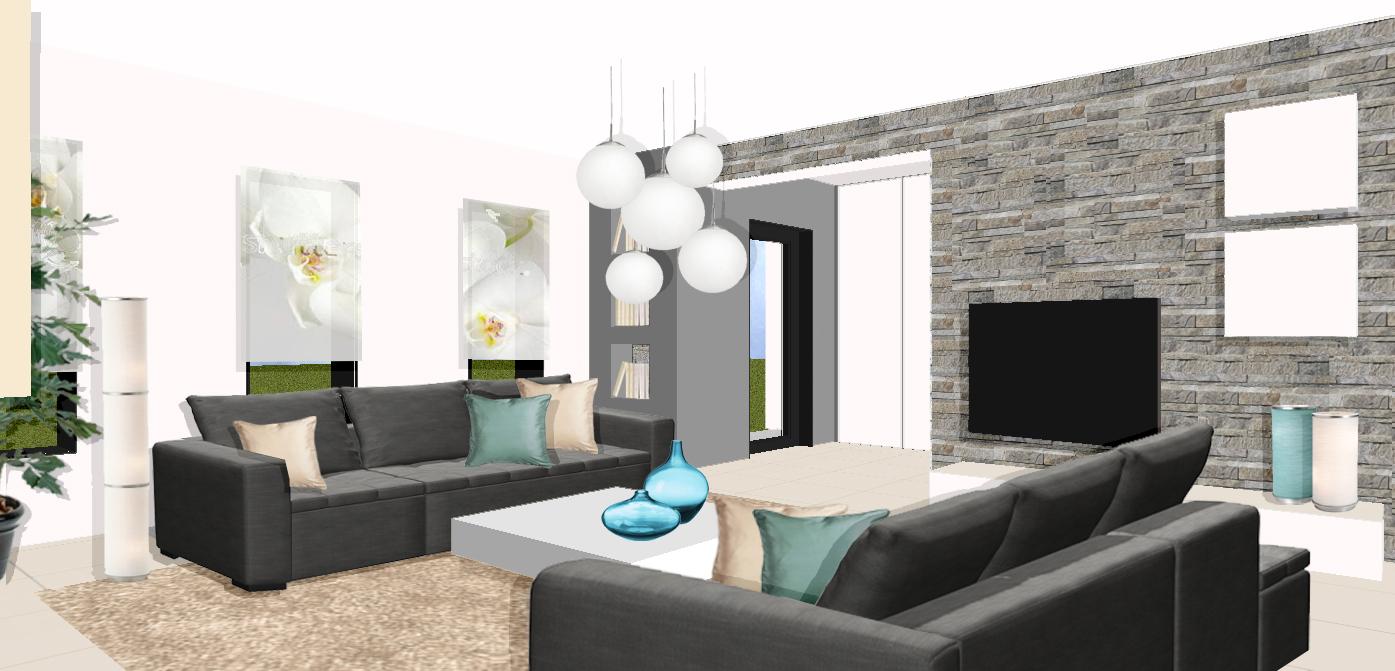 Maison moderne interieur salon - Idee interieur maison ...