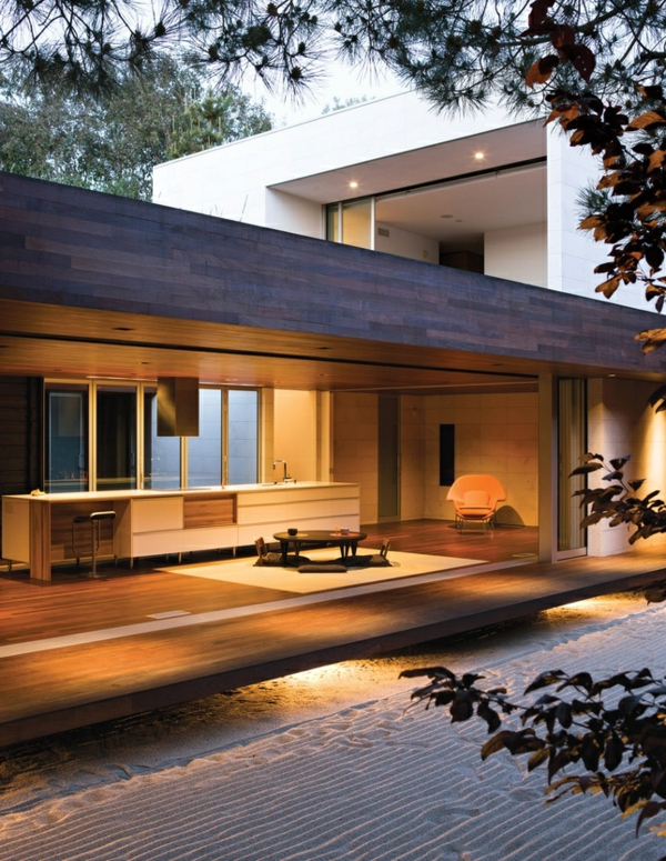 maison moderne japonaise. Black Bedroom Furniture Sets. Home Design Ideas