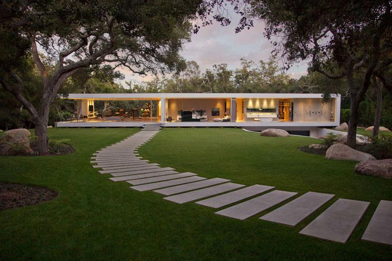 maison moderne jardin