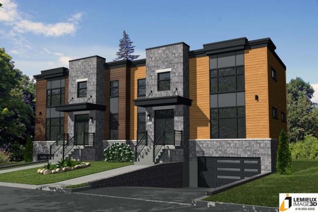 maison moderne jumelee