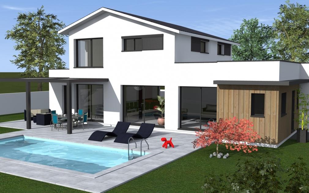 Maison moderne la rochelle for Maison a etage moderne