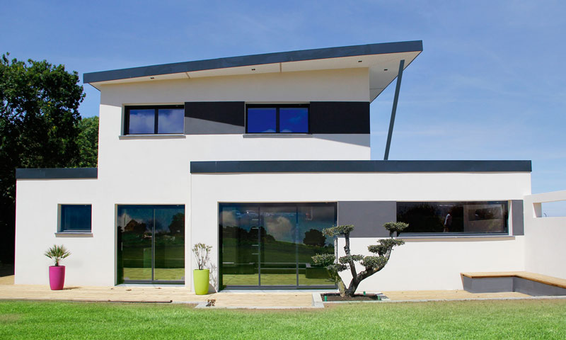 Maison moderne monopente - Maison moderne construction ...