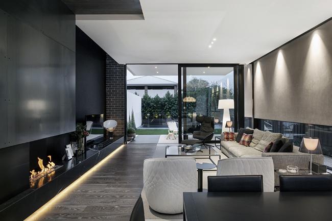 maison moderne noir