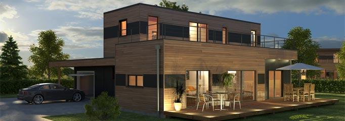 maison moderne ossature bois kit