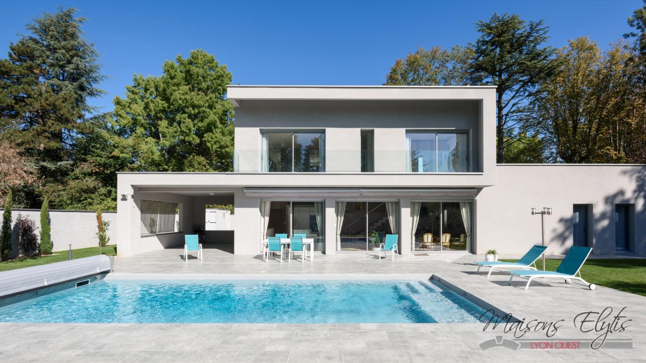 maison moderne piscine