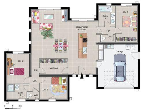 maison moderne plan