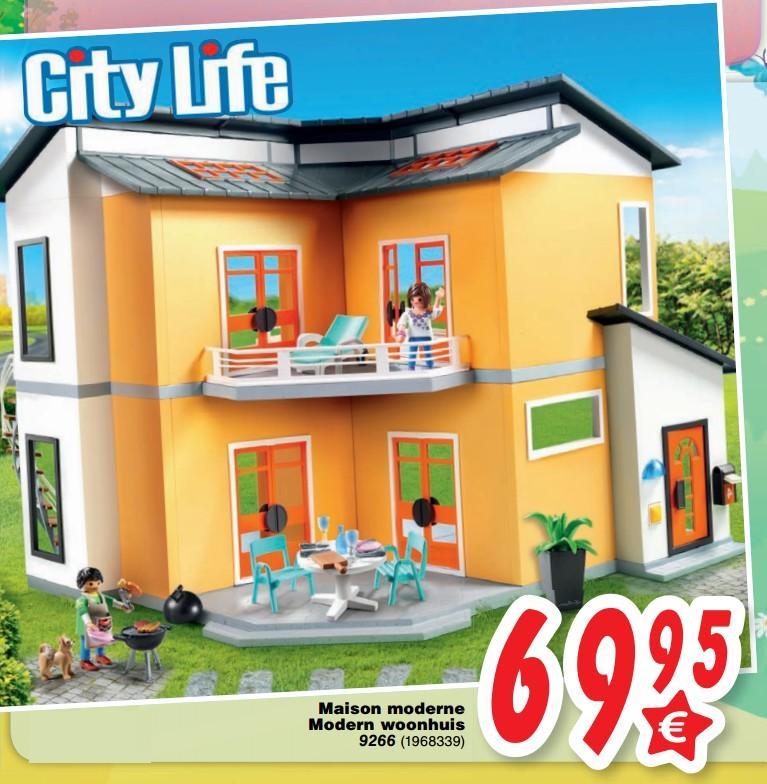 Playmobil City Life Maison Moderne : Maison moderne playmobil